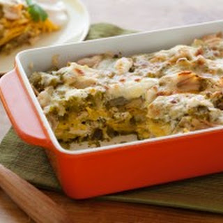 Roast Chicken Enchilada Suizas Stacked Casserole
