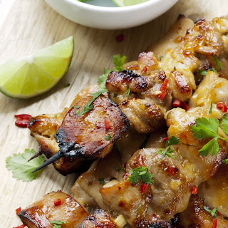 Healthy Thai Coconut Chili Chicken Skewers
