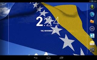 Screenshot of 3D Bosnia Flag Live Wallpaper