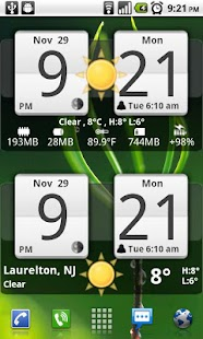 Sense Analog Clock Widget 24- screenshot thumbnail