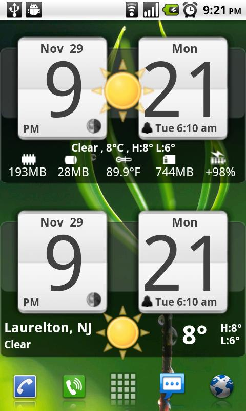 Sense Analog Clock Widget 24- screenshot