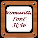 Romantic Font Style icon