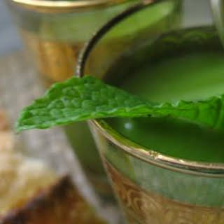 Indian Spiced Chilled Minted Pea Soup.