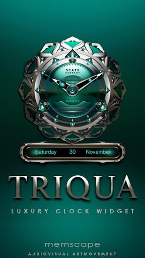 TRIQUA Luxury Clock Widget
