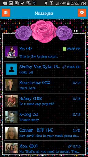 GO SMS THEME - SCS380