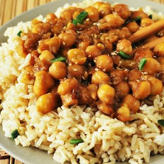 General Tso's Chick Peas (Vegan, Gluten-Free)