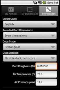 HVAC Duct Sizer- screenshot thumbnail