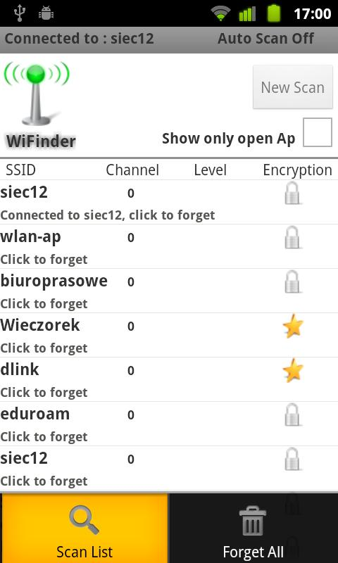 WiFinder- screenshot