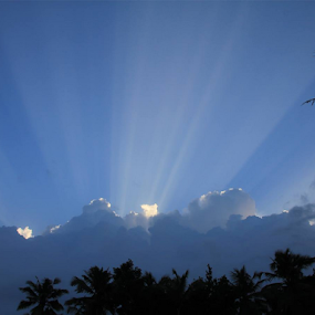 Piercing Through Clouds... by Nithya Purushothaman - Landscapes Cloud Formations (  )