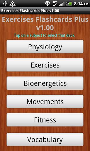 Exercise Flashcards Plus
