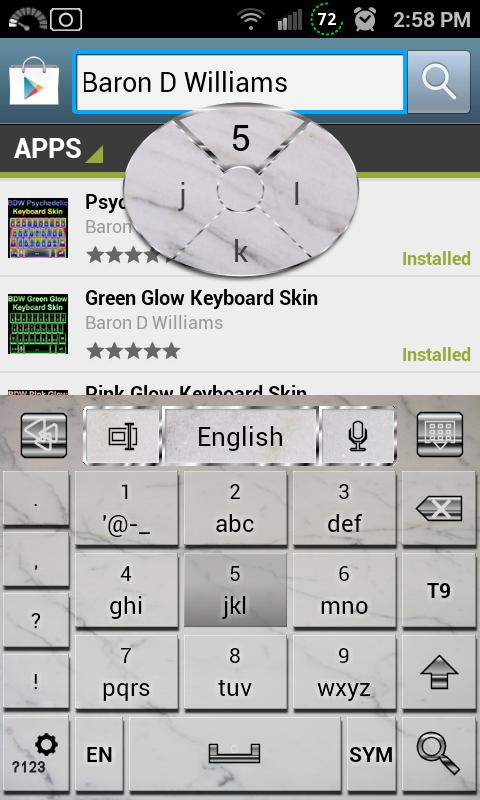 Marble Tile Keyboard Skin- screenshot