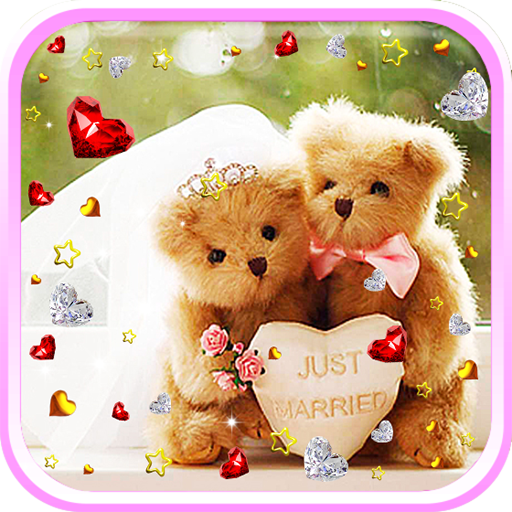Teddy Bear Love live wallpaper LOGO-APP點子