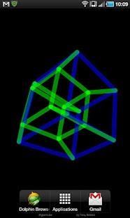 4D Hypercube Live Wallpaper- screenshot thumbnail