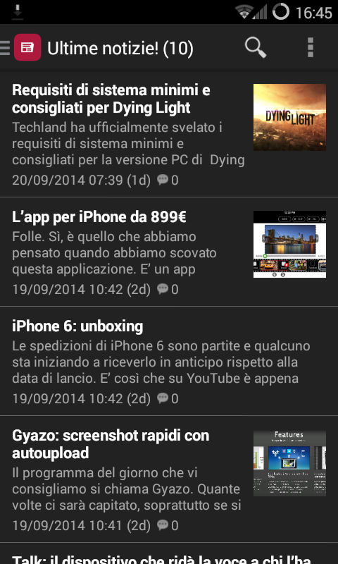 Notizie Tecnologia e Internet- screenshot