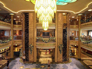 A look at the atrium aboard Disney Fantasy.
