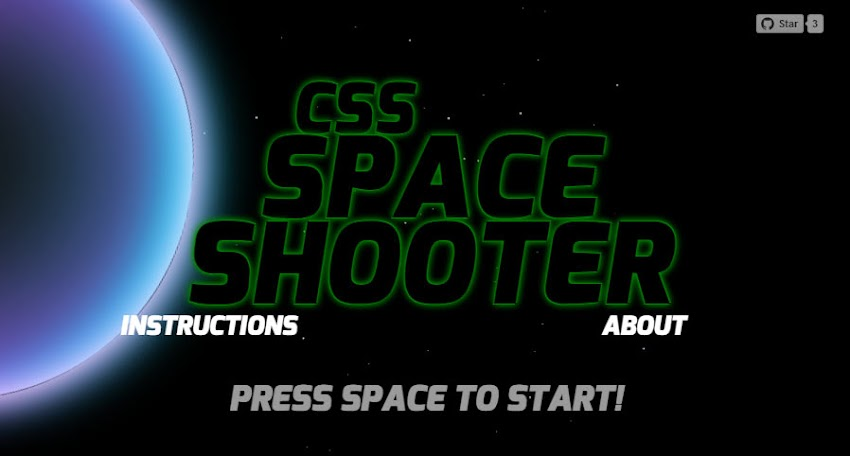 CSS Space Shooter by Michael Bromley | Experiments with Google