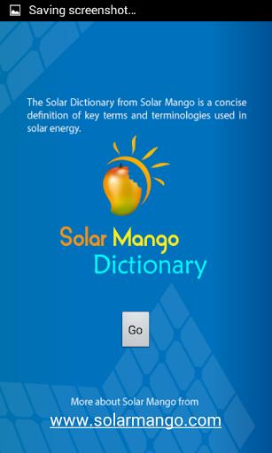 Solar Mango Dictionary