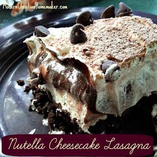 Nutella Cheesecake Lasagna – A Dessert Masterpiece.