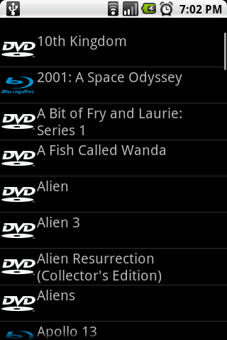 DiscCat- screenshot