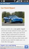 Screenshot of Car Paint Repair