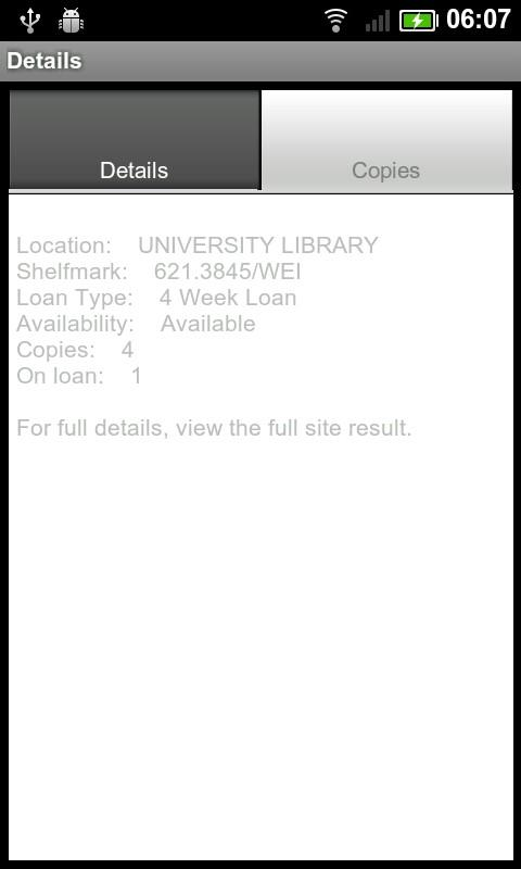 UoP Library- screenshot