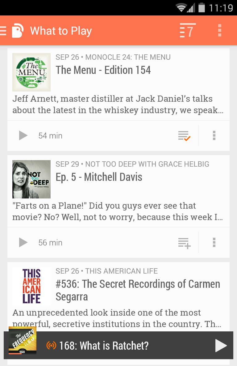 BeyondPod Podcast Manager Screenshot 2