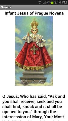 Infant Jesus of Prague Novena - screenshot