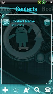Cyanogen Theme for ssLauncher - screenshot thumbnail