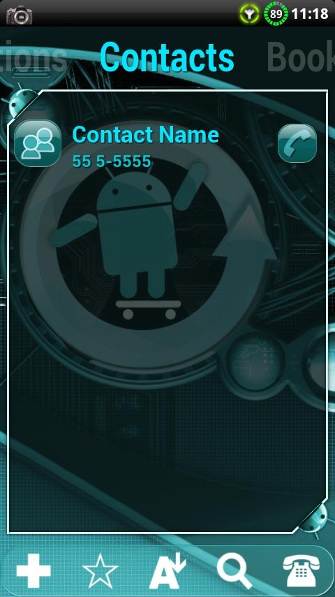 Cyanogen Theme for ssLauncher - screenshot