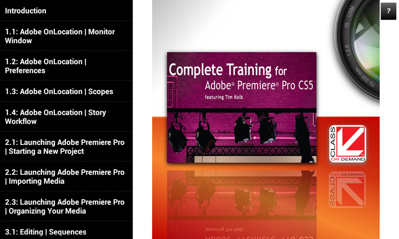 Training Adobe® Premiere® CS5- screenshot