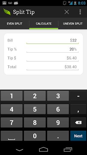 Split Tip - Tip Calculator