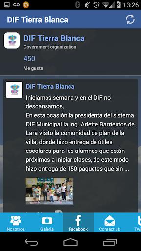 DIF TIERRA BLANCA
