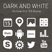 D.White GO Launcher EX Theme