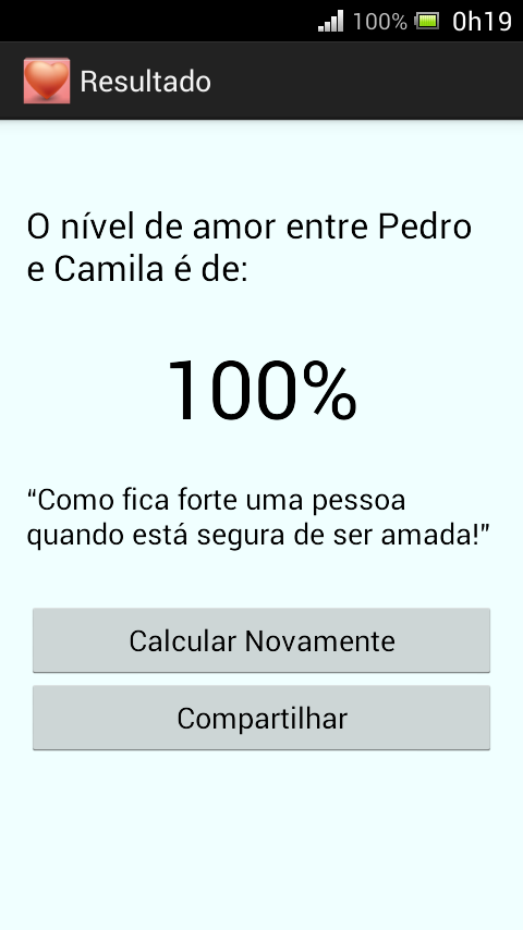 Calculadora do Amor - Simples- screenshot