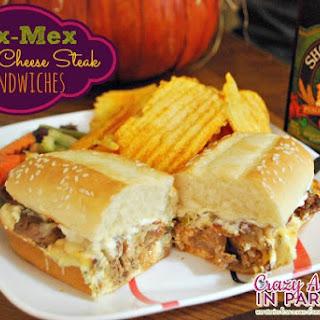 Tex-Mex Philly Cheese Steak Sandwiches.