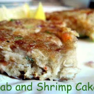 Crab and Shrimp Cakes.