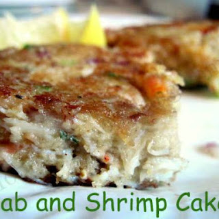 Crab and Shrimp Cakes.