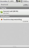 Screenshot of Call Recorder