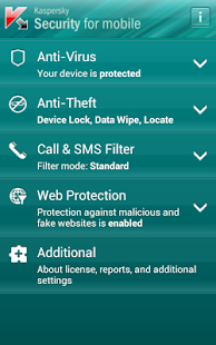 Kaspersky Security For Mobile - screenshot thumbnail
