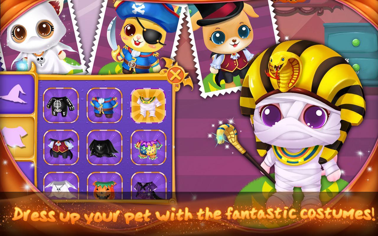 Dress up your pet game - Pet Halloween Night Screenshot