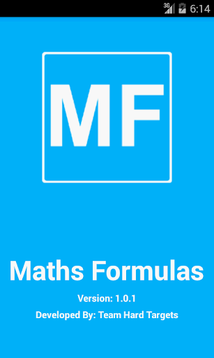Maths Formulas