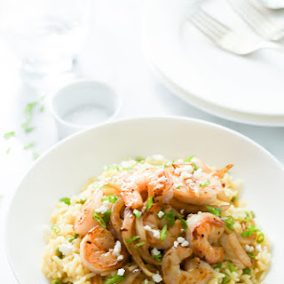 Rice with Balsamic Onions and Shrimp