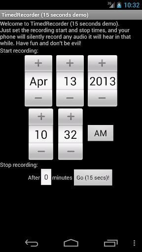 TimedRecorder 15seconds demo