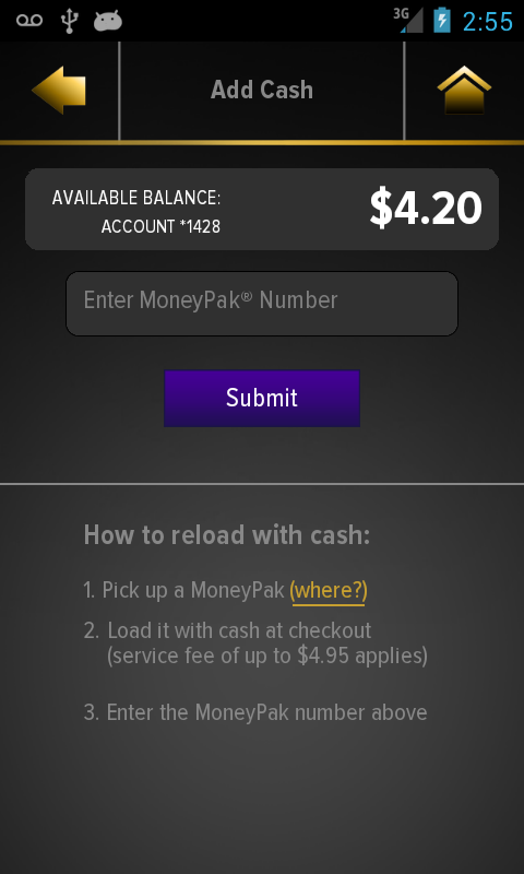 RushCard Live - screenshot