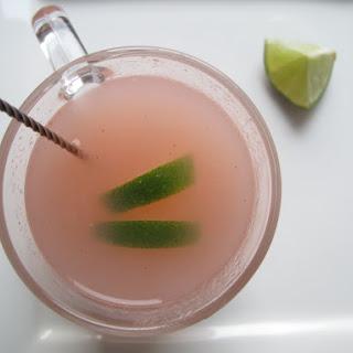 Roasted Rhubarb Limeade