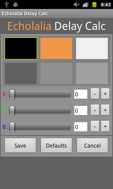 Echolalia Delay Calc - screenshot