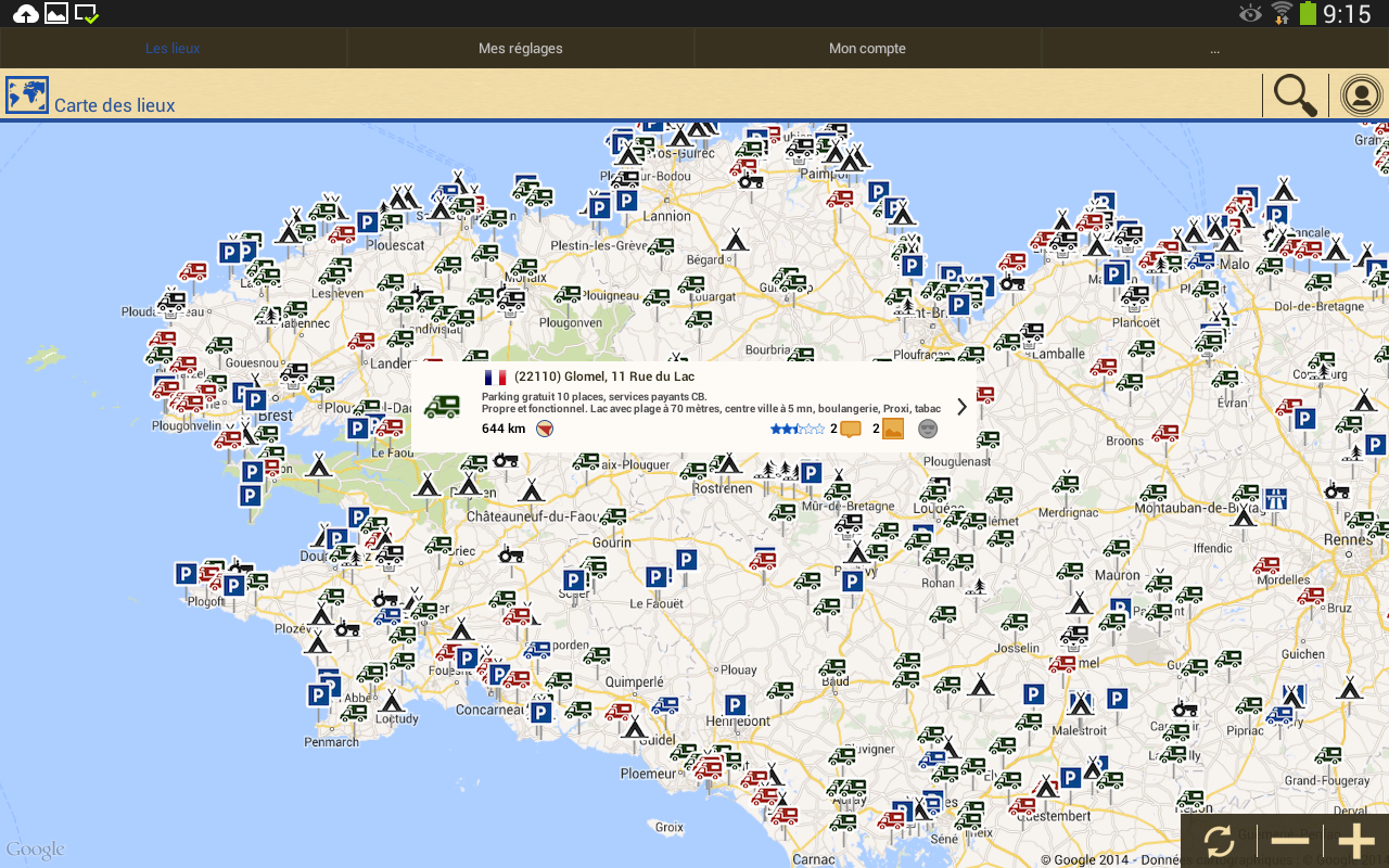 Carte Des Aire De Camping Car En France | My blog
