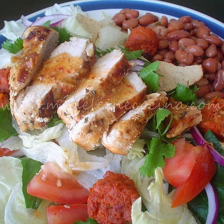 Chicken and Sausage Salad with Beans