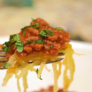 Spaghetti Squash with Meat Sauce Marinara