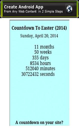 Countdown Till Easter Sunday